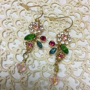 🌸Crystal Flower Earrings